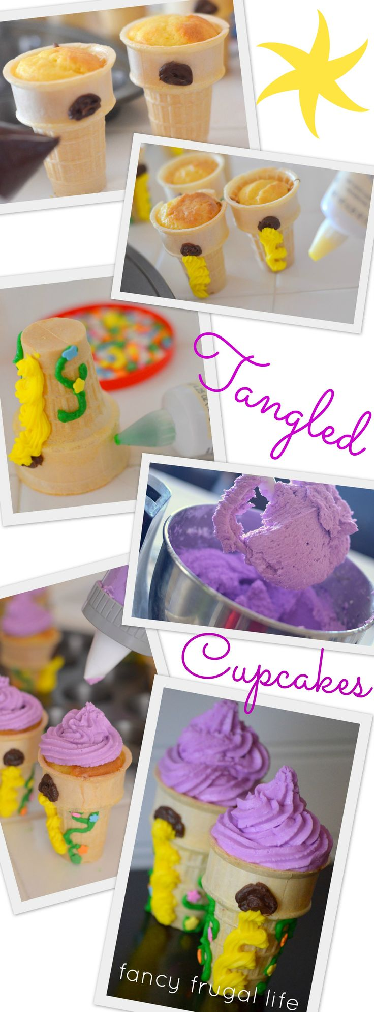 HOLY OH-EM-GEE NO I CANT OMG IN LOVE disney's tangled cupcake tutorial. Disney Day