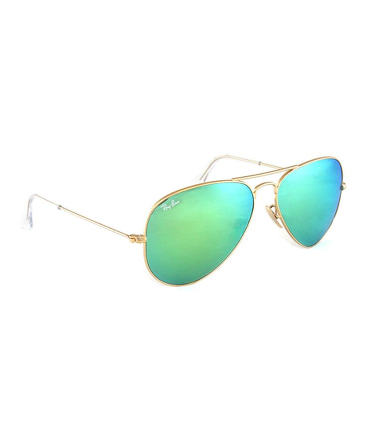 Ray-Ban Gold & Green 58-mm Aviator Sunglasses | zulily