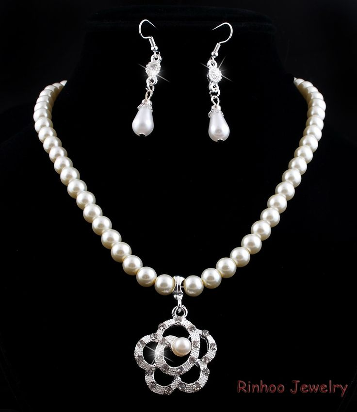 Cheap pearl bracelet set, Buy Quality pearl necklace and earring set directly from China pearl engagement ring sets Suppliers:                 Charm Gift  Imitation Pearl  Wedding Jewelry Set Clear Crystal Classic   White Pearl