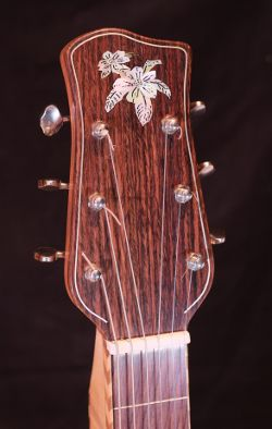 Dogwood flower inlay in mother of pearl.