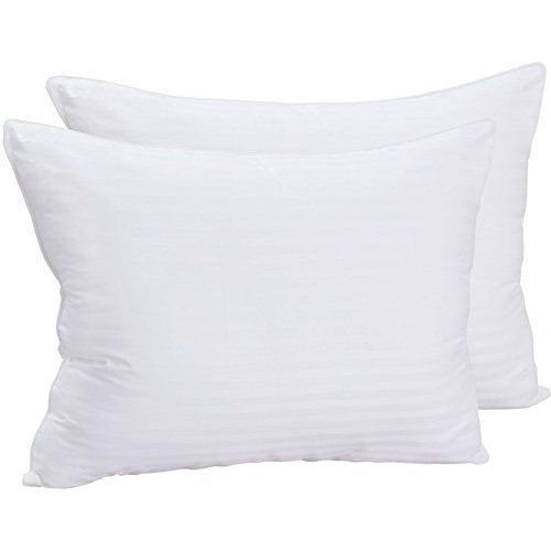 Standard Queen Size Bed Pillows 2 Pack Cotton Plush Dust Mite Resistant Fiber #UtopiaBedding