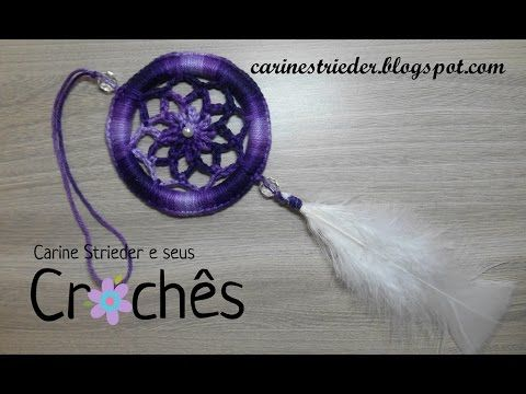 croche dreamcatchers (filtro dos sonhos )com base no CD ( DIY ) - YouTube