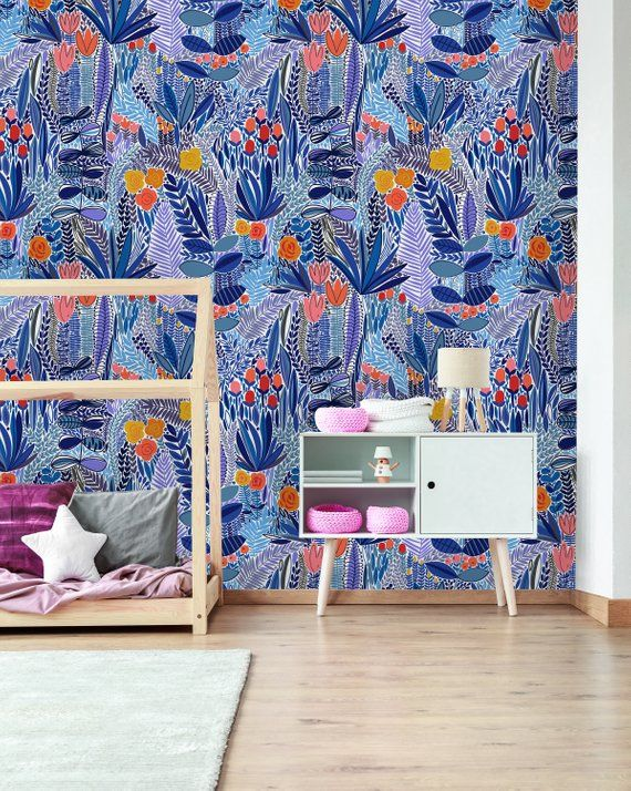 Removable Wallpaper Peel And Stick Wallpaper Self Adhesive Etsy Childrens Bedroom Decor Removable Wallpaper Kids Room Wallpaper