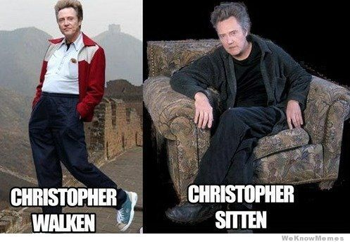 Christopher Walken meme ((looks more like he's strollin' to me, but what do I know? I've only been walken my whole life...))
