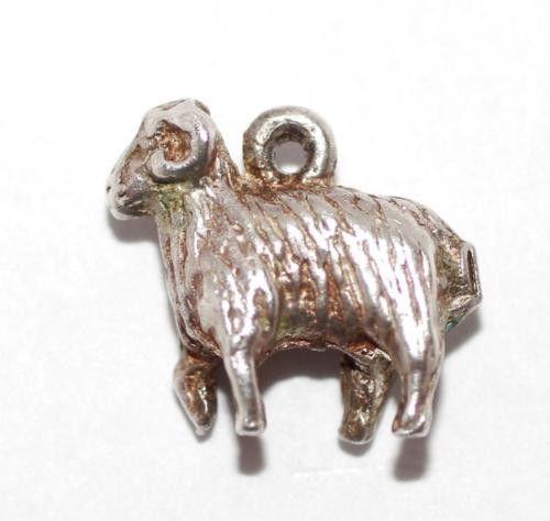 Vintage Sterling Silver Bracelet Charm Capricorn Goat Zodiac (2g)