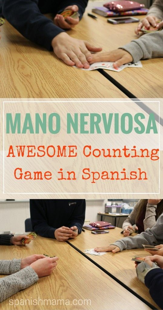Mano Nerviosa: Best Ever Counting Game for learning los números in Spanish. It…