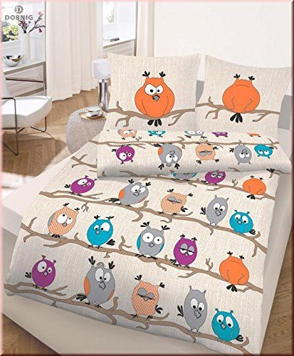Aus der Kategorie Bettwäsche-Sets  gibt es, zum Preis von   <li>Marke: Dobnig</li><li>Bezeichnung: Renforcé Bettwäsche 2tlg. Beige-Orange-Türkis Eule</li><li>Materialzusammensetztung: 100% Baumwolle</li><li>Farbe: Beige-Orange-Türkis-Lila-Grau mit Eulen</li><li>Gewicht: 1070 gramm</li><li>Ausstattung: <br>- Hochwertige Qualitätsbettwäsche von ido - Dobnig Homeware<br>- Renforcé Bettwäsche mit Reißverschluss<br>- 2-teiligeGarnitur beinhaltet: 1 Bettbezug ca. 135 x 200 cm<br>- Kissenbezug ca…