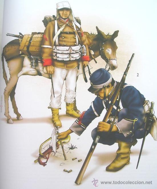 Militaria: Libro De Lujo Uniformes De La Guerra Del Pacifico Chile Peru Bolivia + DE 200 ILUSTRACIONES Y LAMINA - Foto 9 - 56547393