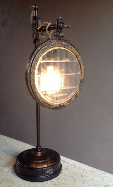 Vintage auto headlight lens lamp by Joy Price featured by Brown Dress with White Dots