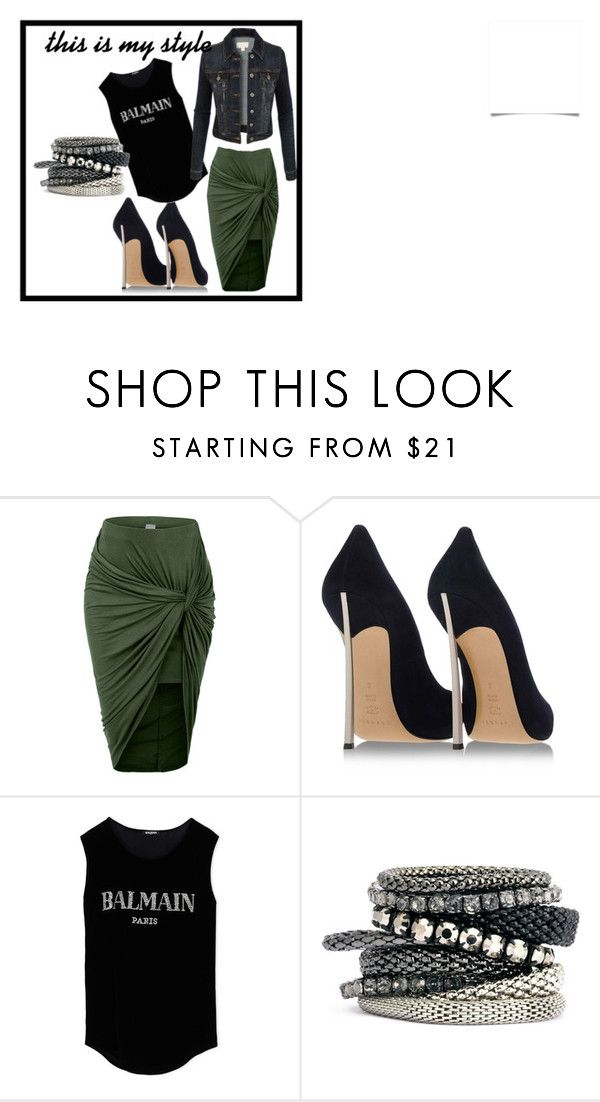 """""""this is my style"""" by monica-bertoni on Polyvore featuring LE3NO, Casadei, Balmain, H&M, women's clothing, women, female, woman, misses and juniors"""
