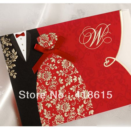 Shipping free 50 elegant gold stamping bride and groom wedding invitation wedding cards wedding favor wholesale-in Event  Party Supplies from Home  Garden on Aliexpress.com $66.99