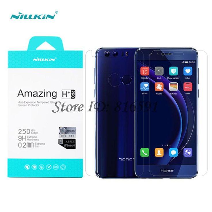 Huawei honor 8 nillkin increíble h + pro anti-explosión vidrio templado frontal/back protector de pantalla para huawei honor 8 5.2 pulgadas