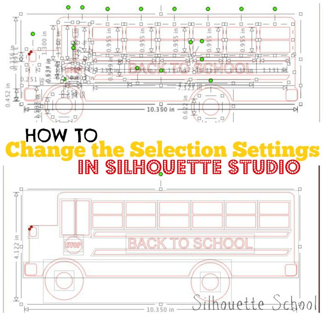 How To Change Silhouette Studio Selection Box Default
