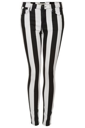 MOTO Stripe Leigh Jeans by Topshop