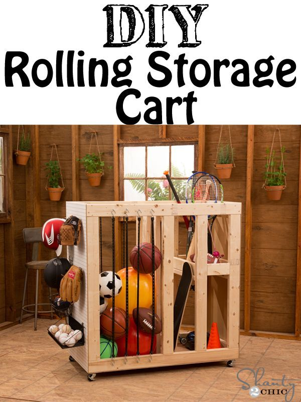 DIY Rolling Cart Storage
