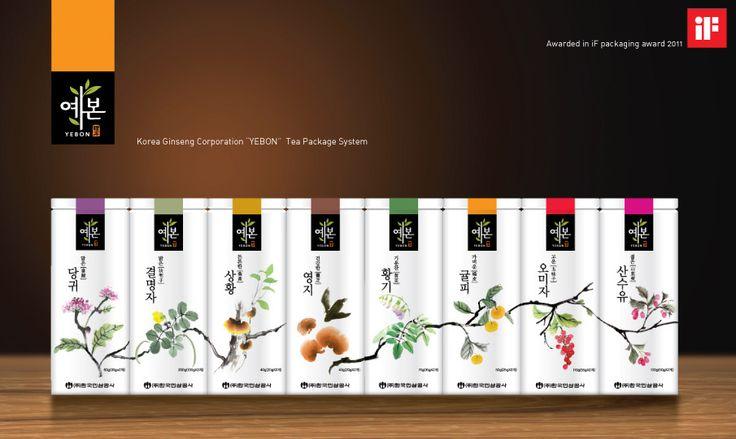 Yebon Tea Packaging System - Daim Yoon:Visual designer