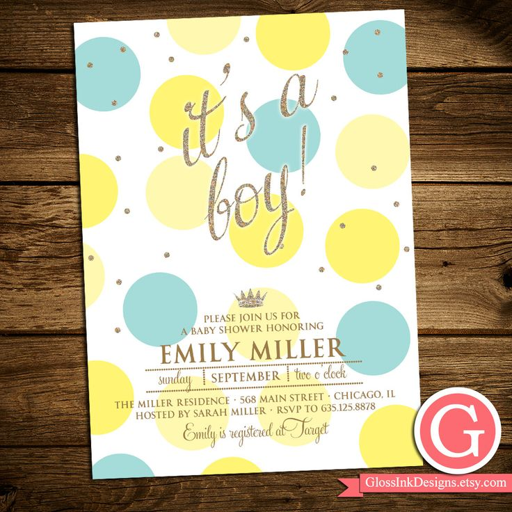 baby shower invitation for twins%0A Items similar to Baby Shower Invitation  It u    s a Boy  Glitter Confetti   Polka Dots  Pink  Turquoise Yellow Mom to Be Boy Girl Twins Gender Neutral  PRINTABLE