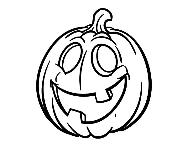Dibujo de Calabaza de Halloween para colorear | Halloween ...