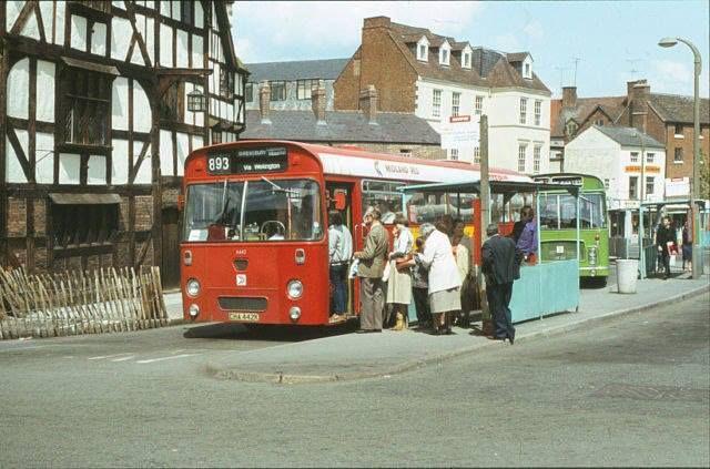 Barker Street bus station, Shrewsbury, Shropshire
