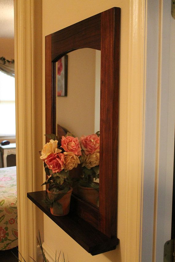 15 best copper pipe project ideas images on pinterest for Hallway mirror and shelf