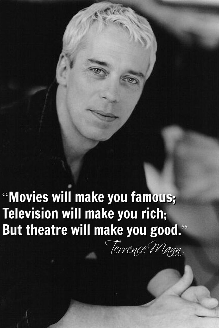 Movies Will Make You Famous; Television Will Make You Rich