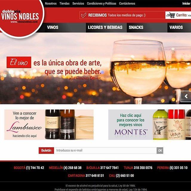 Recuerda que #VinosNobles tiene para ti servicio a domicilio en las principales ciudades del país. ¡Confíanos tus celebraciones! Recibimos todos los medios de pago. Visita: www.vinosnobles.com