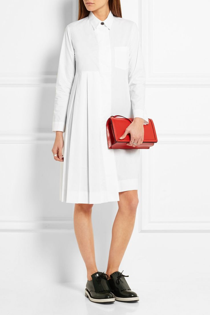 Marni | Рубашка платье хлопка поплина со складками | NET-A-PORTER.COM