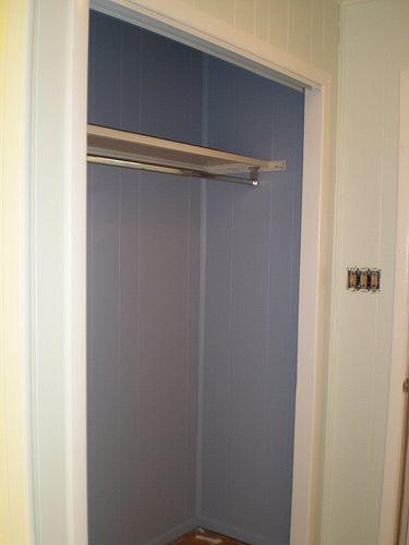 painted closet inside...junes room pink closet