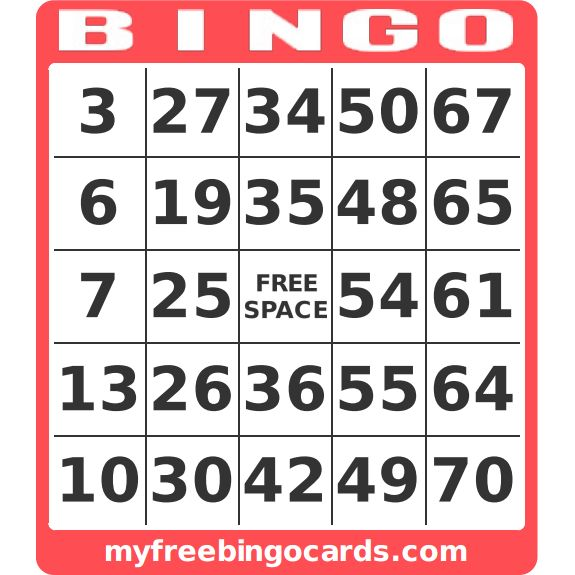 myfreebingocards.com - tea party bingo - custom bingo card generator