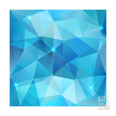 Blue Abstract Shining Ice Vector Background Art Print by art_of_sun at Art.com