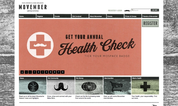 Movember website - hehehe, on so many levels, I love this one. : Design Inspiration, Web Design, Website Designs