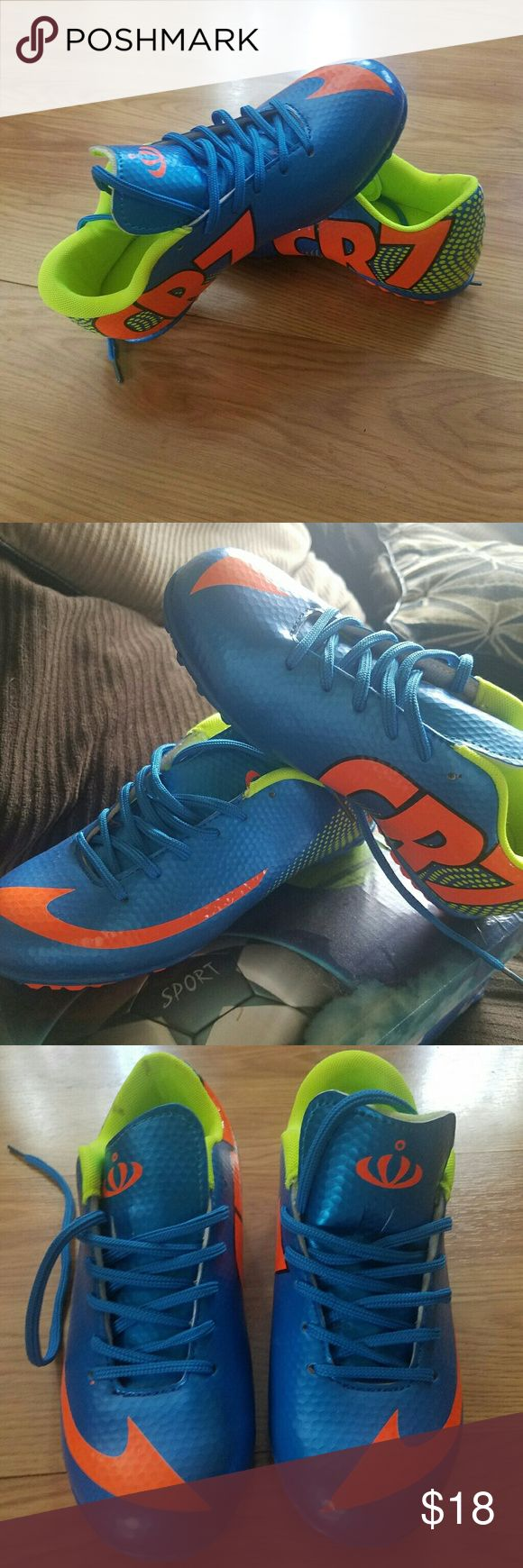 CR7  new indoor soccer shoes They are new,was ordered wrong size. Very cute for indoor season! cristiano ronaldo Shoes Sneakers