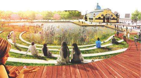 lansdowne park design competition #render #amphitheater