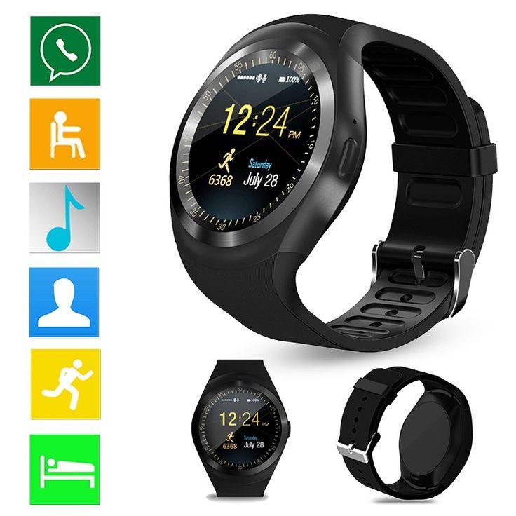 Black Smart Watch Y1 Bluetooth Smartwatch Relogios