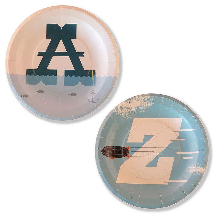 alphabet plates  sc 1 st  Pinterest & 67 best Alphabet images on Pinterest | Letters Alphabet party and ...