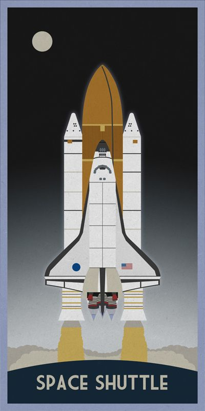 Space Shuttle Program - Having met President Kennedy's goals of landing a man on the moon, the lunar surface becomes the past, and the space program's focus turns to the Shuttle to lift astronauts aboard a reusable craft and start to live in space, learning more about our universe than ever before. To purchase prints go to scbb11Sketch's Imagekind