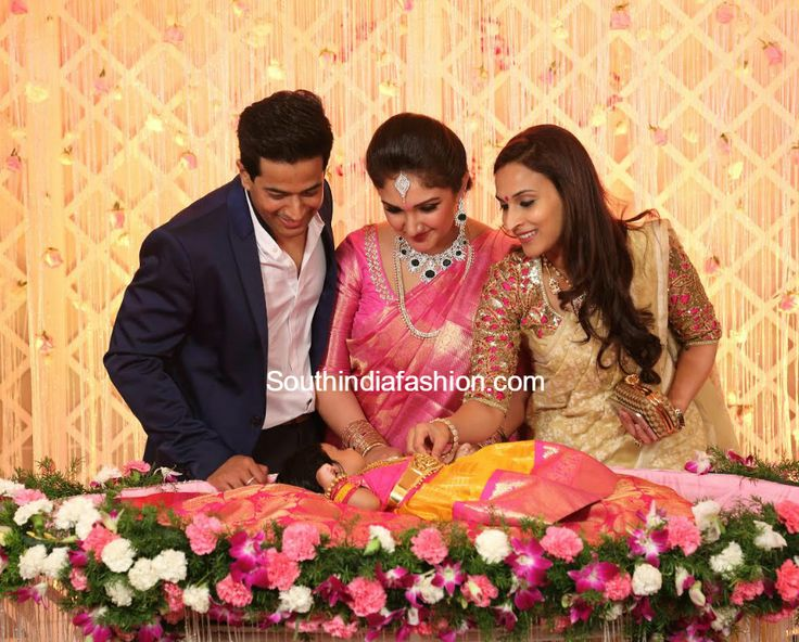 Sridevi Vijaykumar who delivered a baby girl celebrated her daughter naming and cradle ceremony, Sridevi daughter cradle function photos