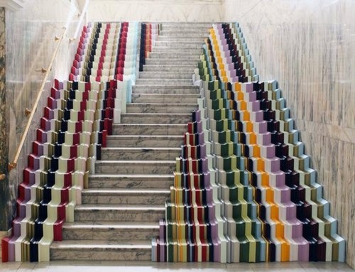 Fascinating Staircase Made Of Picture Frames By UK Designer Stuart Haygarth  At The Victoria And Albert Museum For London Design Week.