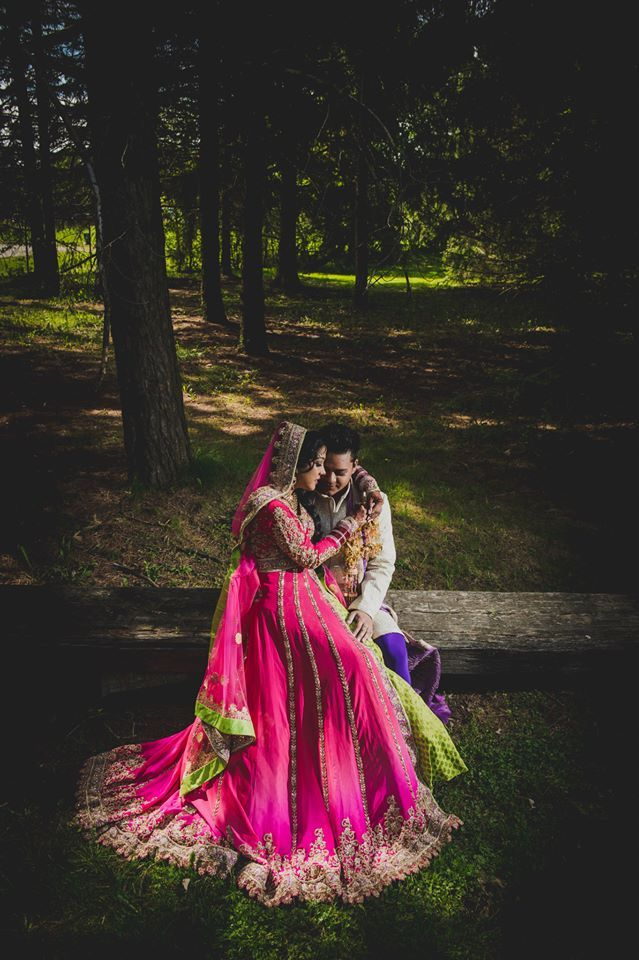Z Molu Photography outdoor indian wedding portrait