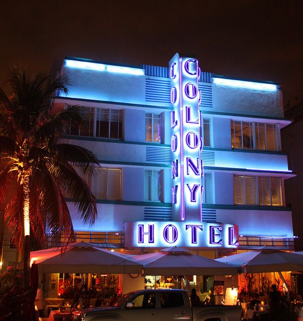 The Colony Hotel on Ocean Dr., Miami Beach, Florida