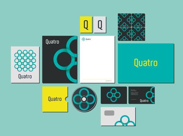 Visual Identity - Quatro on Behance