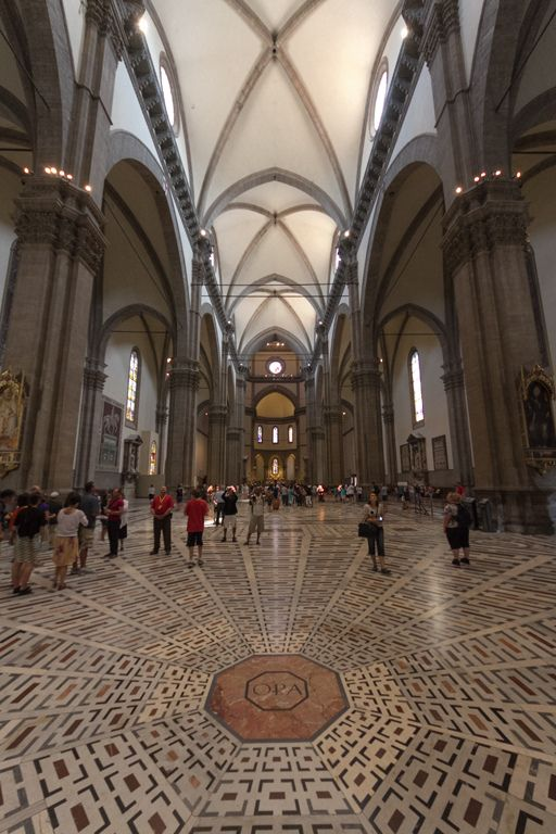 """https://flic.kr/p/dnKRcn   Italy // Tuscany // Cattedrale di Santa Maria del Fiore // Kathedrale von Florenz (The Secret of OPA)   Webfundstück:  """"The acronym OPA found in many churches, including those of Siena and Florence. Note that the spelling is with a straight stroke through the P. It is visible in many places, even with large characters on the floor of the church. I've asked many Italians, but almost nobody knows the answer immediately. On my last trip through Tuscany, I met som..."""