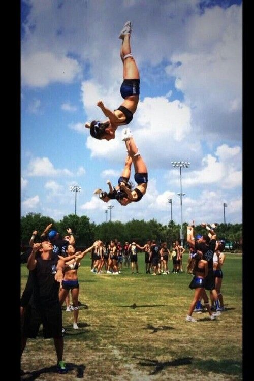Trust cheer cheerleading stunt fly flyer basket toss awesome cool sport college coed al girl UCA NCA football basketball team strength flexibility all star competition competitive backspot gymnastics flip