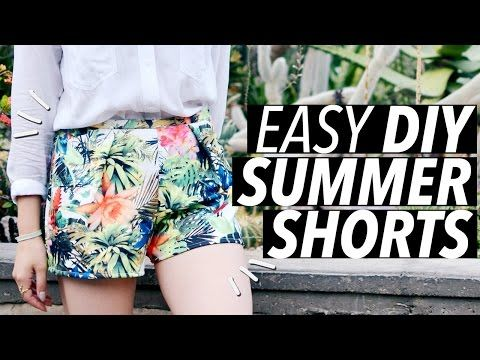 DIY Easy Summer Shorts (No Zipper! No Elastic! No Buttons!) - YouTube