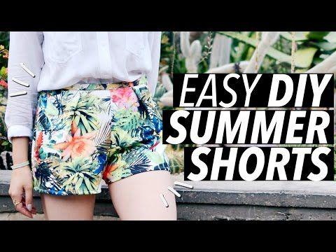 DIY Easy Summer Shorts (No Zipper! No Elastic! No Buttons!) - YouTube