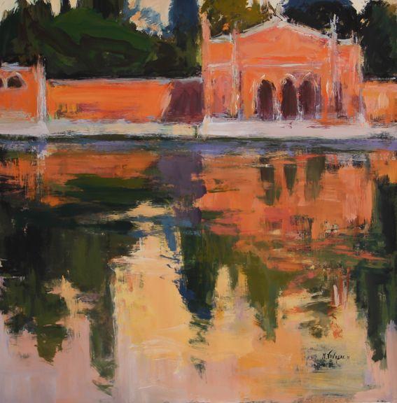 """San Michele"".Venecia.100x100cm.M.Teresa Martin-Vivaldi"