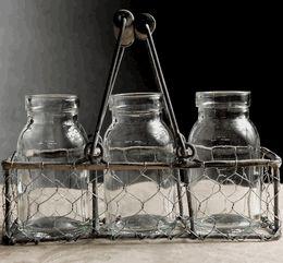 218 best baskets images on pinterest baskets layette for Jardin glass jars