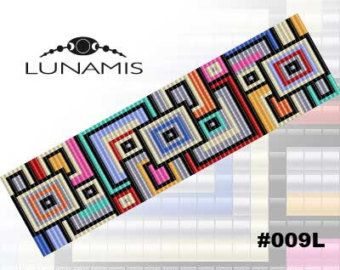 Loom bracelet pattern loom pattern square by LunamisBeadsPatterns                                                                                                                                                                                 More