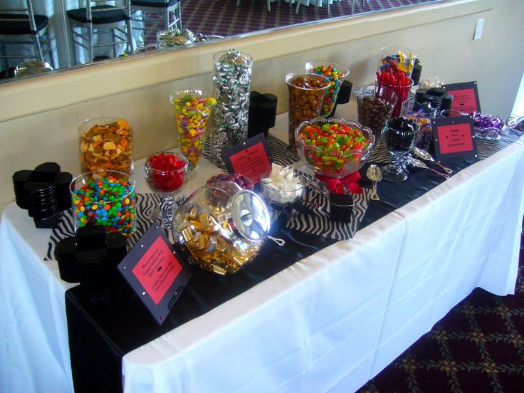 17 best ideas about wedding snack tables on pinterest - Table snack bar but ...