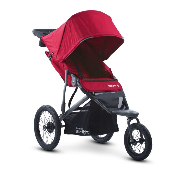 The Joovy Zoom 360 Ultralight is a single jogging stroller unlike any other on the market. It's storage space and swivel wheels make every run a great one!